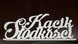 Kącik Słodkości - napis 3D na słodki stół