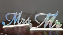 Mrs&Mr - napis 3D na stół Państwa Młodych