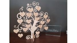 Księga gości w formie drzewka/20 serc-40gości