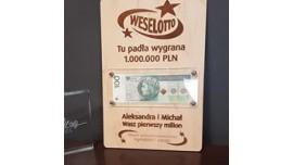 Weselotto na pieniążki dla Pary Mlodej