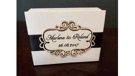 Pudełko na obrączki elegant